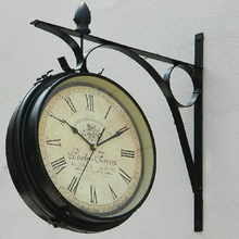 double sided wall clock digital watch vintage wall clock wanduhr duvar saatleri clocks home decor reloj