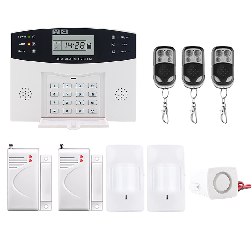 Saful LCD Display Wireless GSM & Home Security SMS Call Burglar Alarm Systems Russian/English/Spanish/French voice wireless smoke fire detector for wireless for touch keypad panel wifi gsm home security burglar voice alarm system
