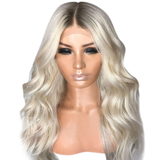Top Fashion Sexy Natural Women Girl Gradient Blonde Party Wigs Long