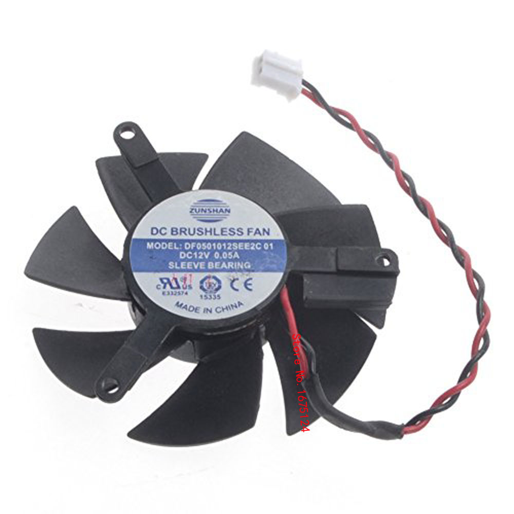 US $6 51 12% OFF|DF0501012SEE2C 47mm DC 12v Computer radiator VGA Cooler  Fan For nVIDIA Geforce GT220 GTS210 Graphics Video Card cooling-in Fans &