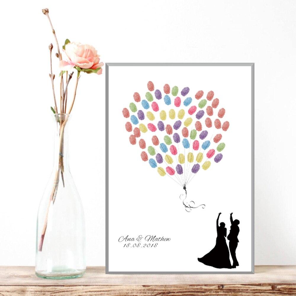 Us 612 30 Offpersonalisierte Hochzeit Dekoration Geschenk Gästebuch Fingerabdruck Kreative Jahrestag Geschenk Hochzeit Souvenir Geschenk Für Braut