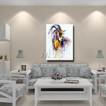 The Antelope Cheap Modern Paintings Hand Pictures For Living Room Wall Hand Painted Oil Painting Ready Hang On Wall