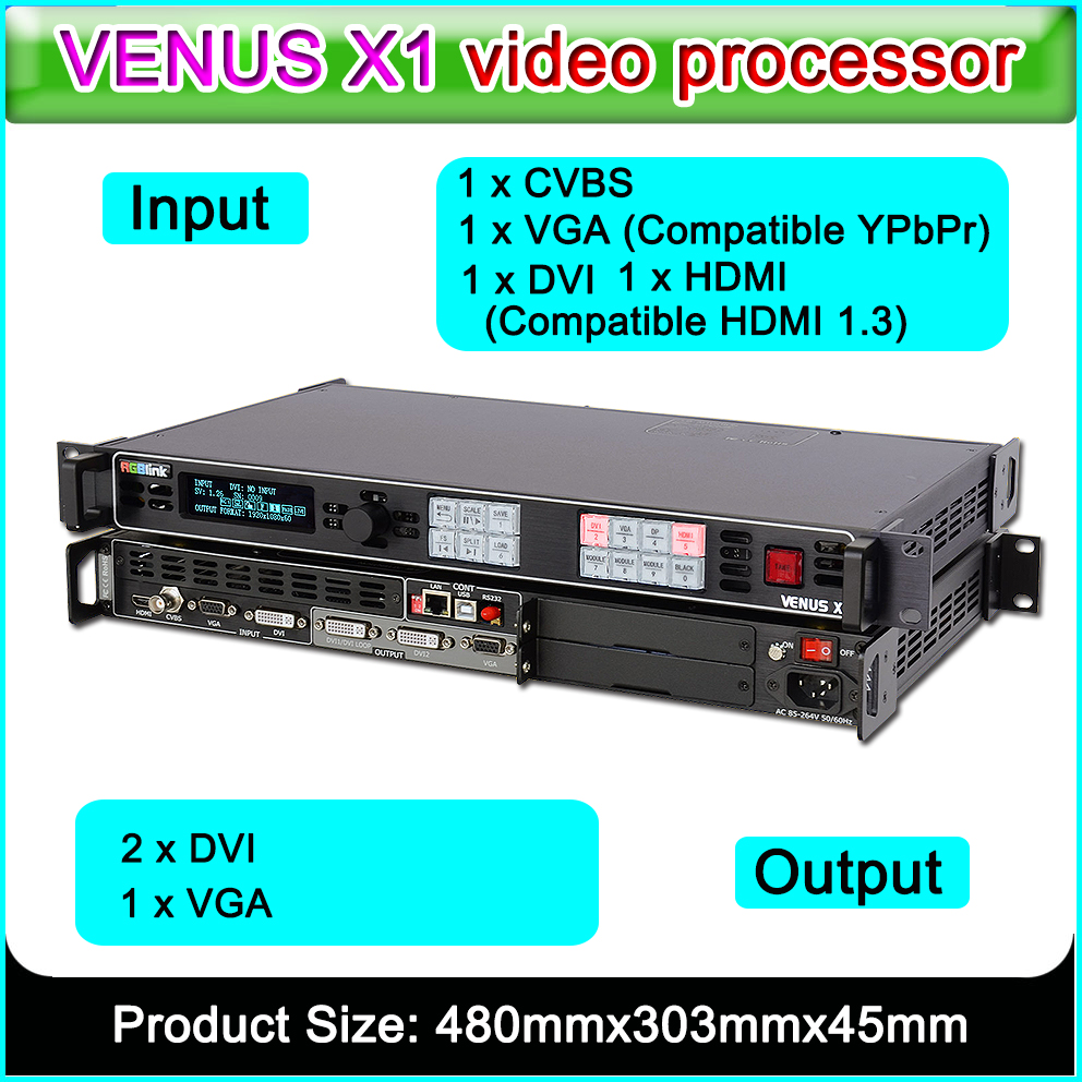 High Quality, High Resolution Video Processor RGBlink VENUS X1 Profession Scaling And Switching Led Video Processor