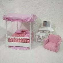 Аксессуары для кукольного домика 1:12 миниатюрная мебель спальни