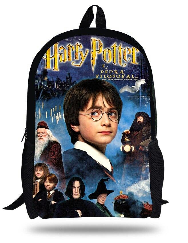 16-inch Mochila School Kids Backpack Harry Potter School Bag Children Boy Mochila Harry Potter Bag Teenagers