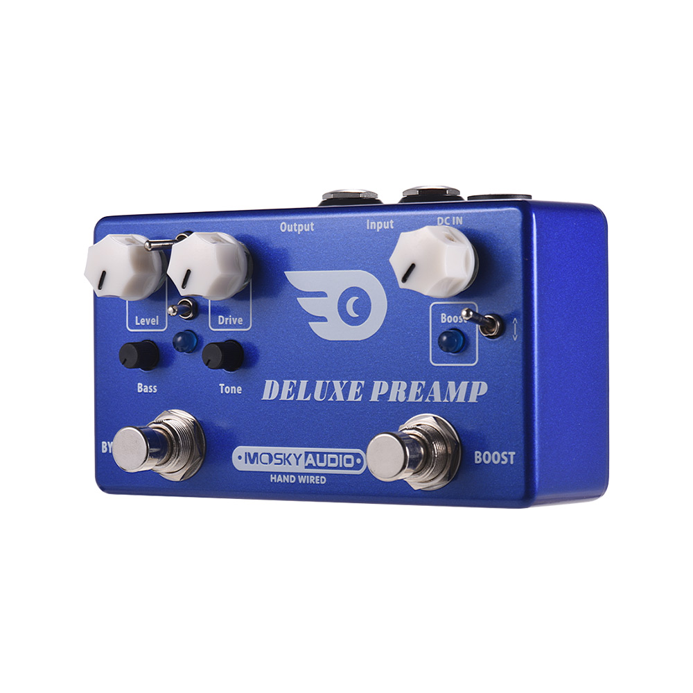 MOSKY AMP TURBO 2 in 1 Guitar Effect Pedal Boost Classic Overdrive Effects Guitar Pedal Full