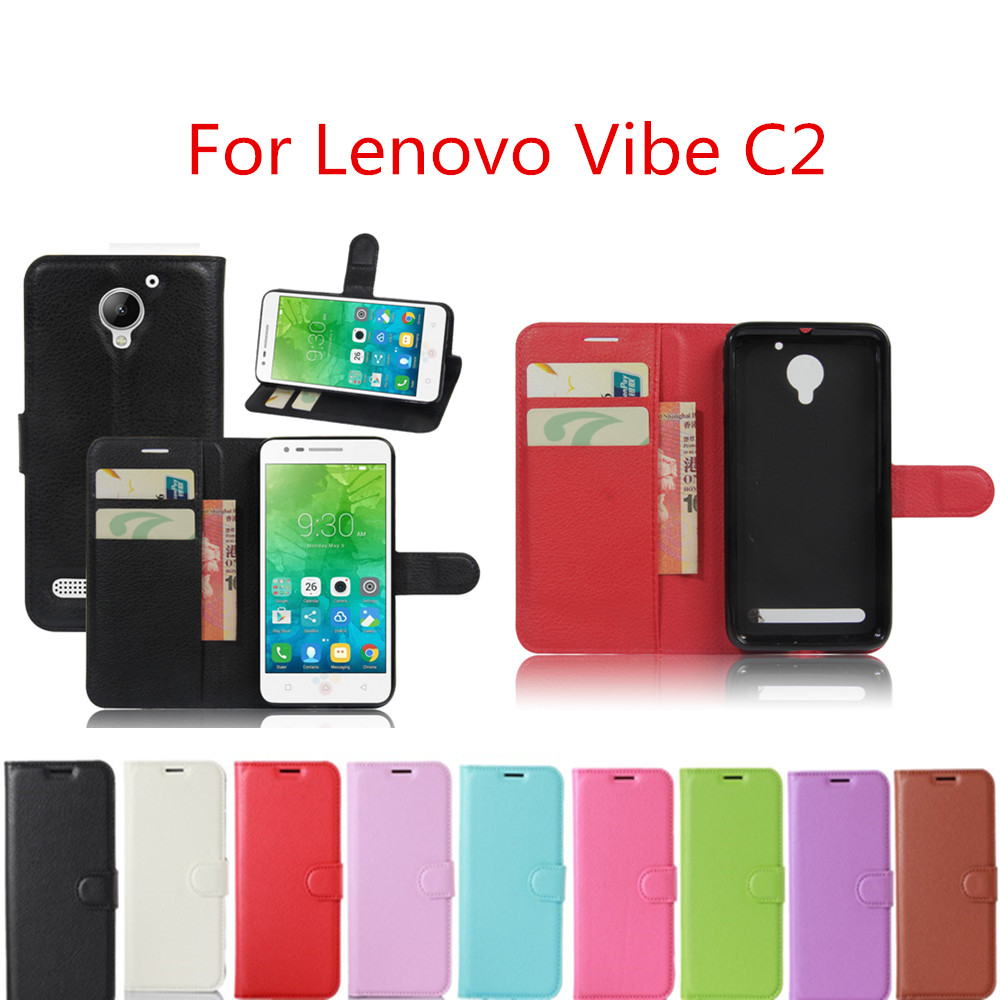 half off 374ad d6ea4 Hot Selling For Lenovo Vibe C2 Case Wallet Style Leather Mobile Phone  Protective Back Cover For Lenovo C2 k10a40 Phone Cases