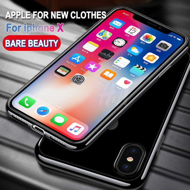 H&A Tpu Soft Silicone transparent case For iphone X 10 cover For iphone 10 X cover case