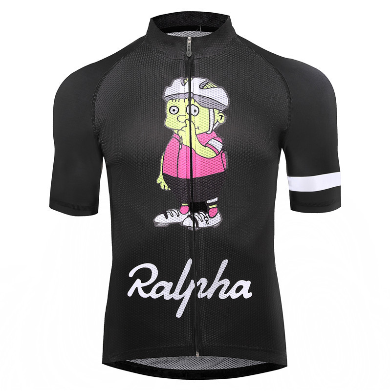 все цены на Simpsons Ralpha bicycle Jersey bike Jerseys road track MTB race cut aero cycling jersey man men italian clothing quick dry short онлайн