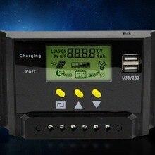 Солнечный контроллер для адаптера 30A 12 v/24 v с цифровым экраном, встроенный двойной USB выход 5 v для солнечной системы, нарядные фатиновые юбки защиты