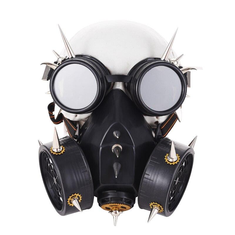 Masques Punk vapeur Punk métal Rivet respirateur lunettes engrenage pointes Vintage lunettes rétro Steampunk Cosplay accessoires