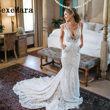 SexeMara Charming Mermaid Wedding Dresses Sexy Back Full