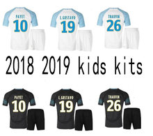 2018 Marseille kids running T-shirts Olympique de child shirt 18 19 Marseille  away black 510f67a2c
