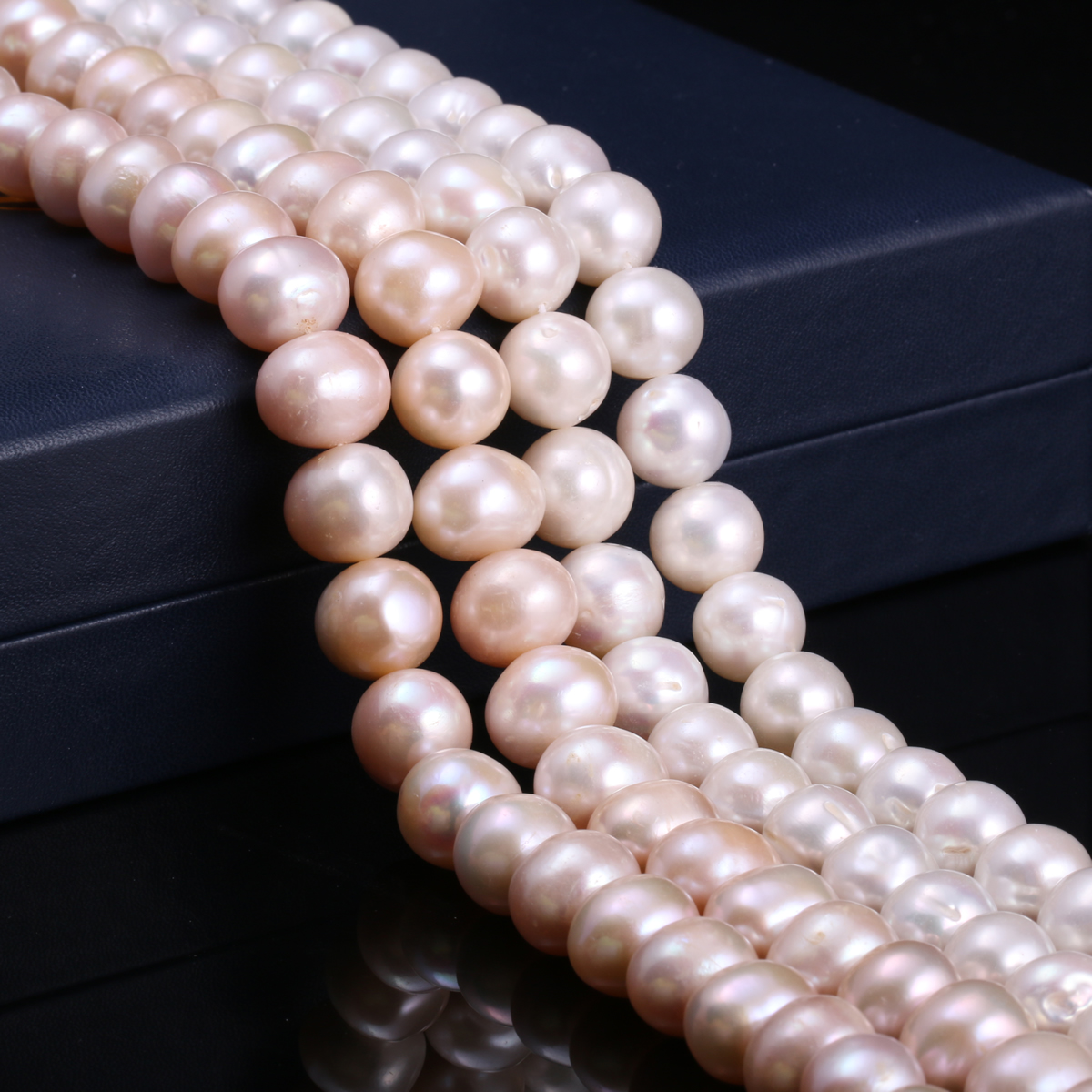 Natural Freshwater Cultured Pearls Beads Round 100% Natural Pearls for Jewelry Making Necklace Bracelet 15 Inches Size 12-13mm edi genuine natural freshwater pearls 5mm 100