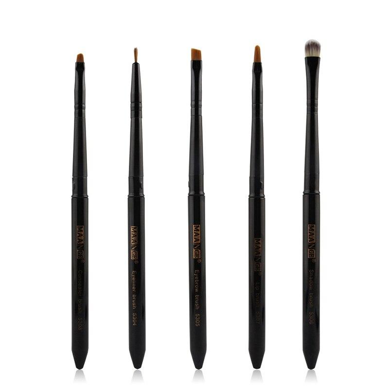 FGHGF Professional 5 Pcs Makeup Brushes Set Fundação Eyeshadow Sobrancelha Escova Ferramenta de Cosméticos Para As Mulheres Viajam Compõem Kit Escova