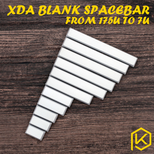 xda blank convex spacebar grey 1.75u 2u 2.25u 2.75u 3u 4.5u 5.5u 6u 6.25u 6.5u 7u blank keycaps for xd60 xd64 xd84 xd75 gh60 60%