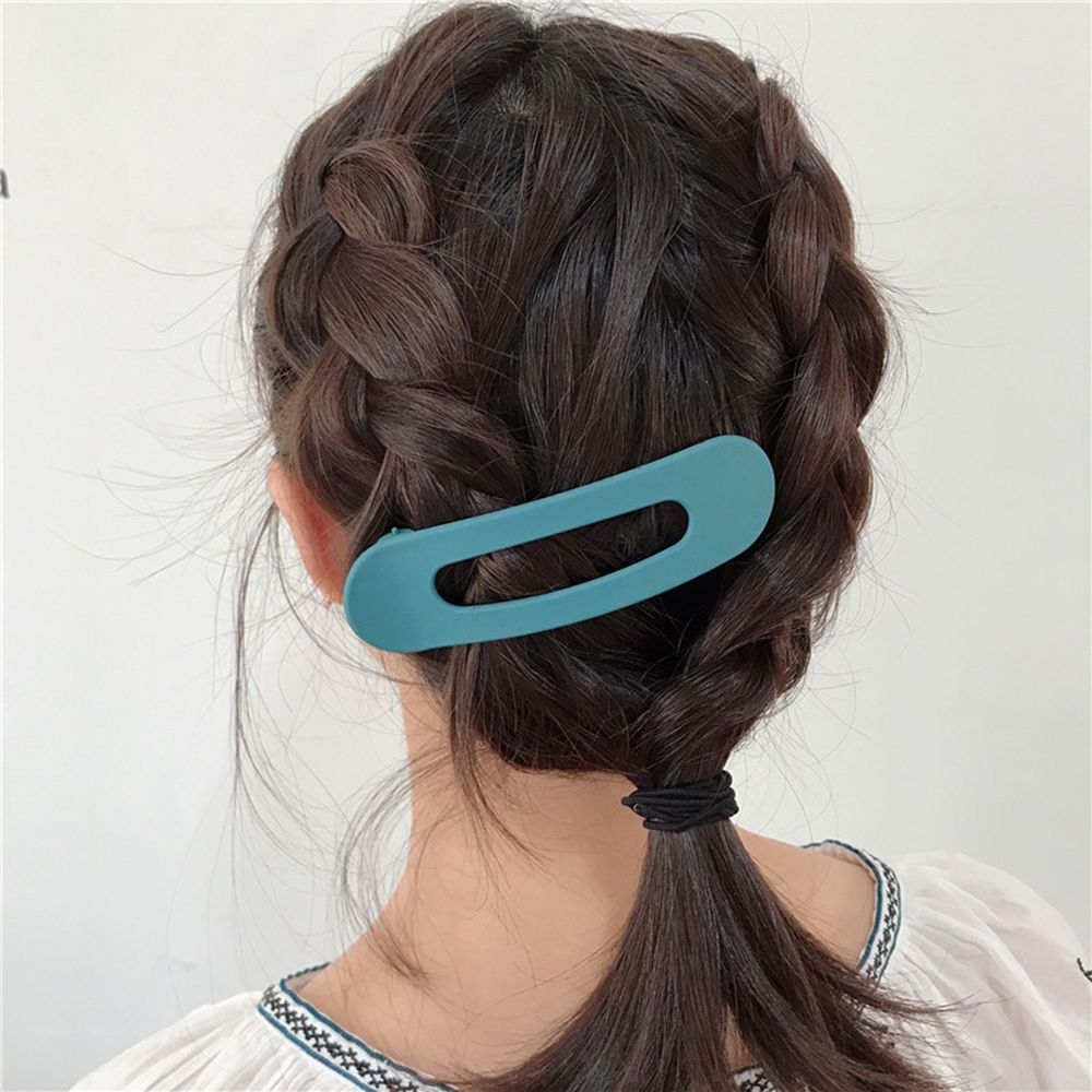 Scrub Big Hair Clips Solid Color Headwear Japanese Style Acrylic Hairpins Barrettes For Women Girls Hair Styling Accessories