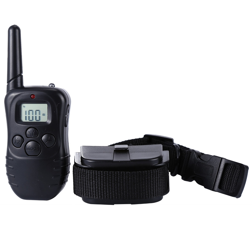 998D 300M Adjustable Waterproof Electronic Remote Control No Shock Anti Bark Safe Pet Dog Training Collar with LCD Display image