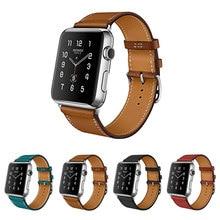 100% Correa De Piel Genuina para Apple Venda de Reloj de Cuero 42 MM 38 MM Para Iwatch Venda de Cuero