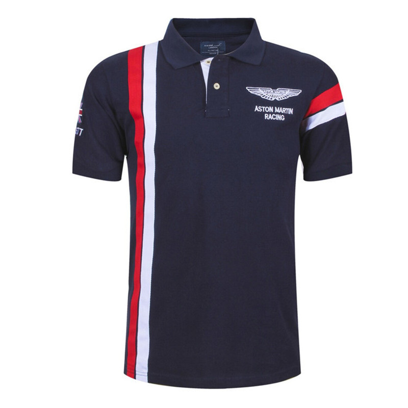 2018 New Fashion Casual Brand Mens Summer Cotton Short Sleeve Army Air Force One   Polo   Shirt Men High-quality Men Clothing