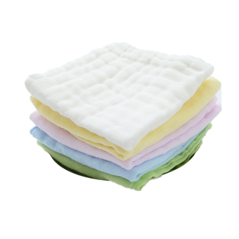 20pcs/lot 6 Layers of Baby Feeding Wipe Towels Cotton Handkerchief Baby Face Towel Fold Square Towel Newborn Washing Towl