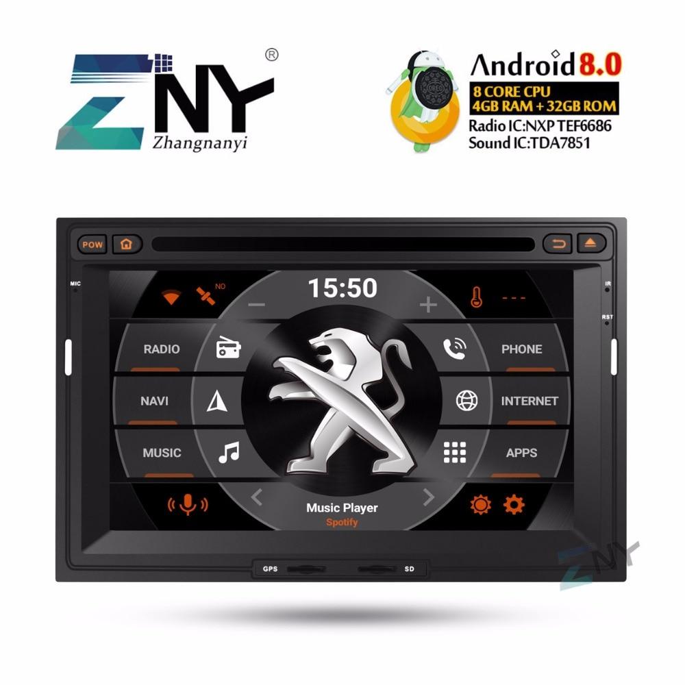 7 HD Android 8.0 DVD De Voiture Pour Peugeot 3008 5008 Auto Radio FM RDS WiFi Bluetooth GPS Navigation Vidéo multimédia Lecteur 4 + 32 GB