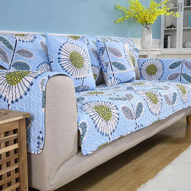 Blue capa para sofa decorativa quilted cushion printed - Forro para sofa ...