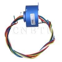 CNBTR 6 Wires 380V 10A 12 7MM Hole Dia Blue Metal Plastic Via Hole Capsule Slip