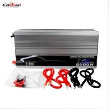 цена на DHL Free Shipping Car Power Inverter 6000W 6KW Pure Sine Wave Inverter DC 12V to AC 220V Converter With USB,Peak Power 12000W