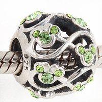 Original 925 Sterling Silver Mickey Charm Beads Swiss Aaa Cubic Zirconia Jewelry Fits For Pandora Bracelets