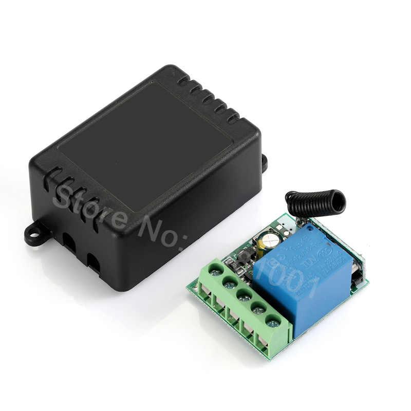 QIACHP 433 Mhz ไร้สายรีโมทคอนโทรลสวิตช์ DC 12 V 1CH รีเลย์ตัวรับสัญญาณรีเลย์ + เครื่องส่งสัญญาณ RF 433 Mhz รีโมทคอนโทรล