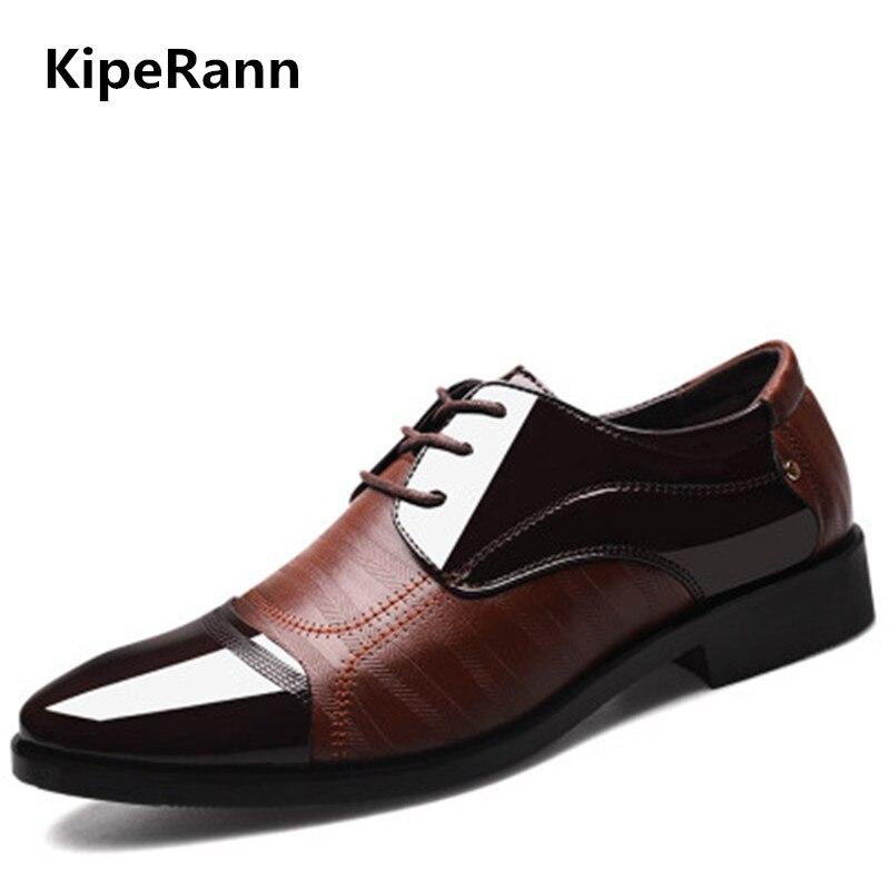 Nueva primavera moda Oxford negocios hombres zapatos de cuero de alta calidad suave casual transpirable hombres zapatos planos zapatos de baile