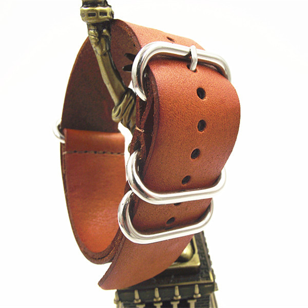 Zulu Straps-1PCS High Quality 18MM Nato Strap Genuine Leather Watch Band NATO Straps Watch Strap-1108