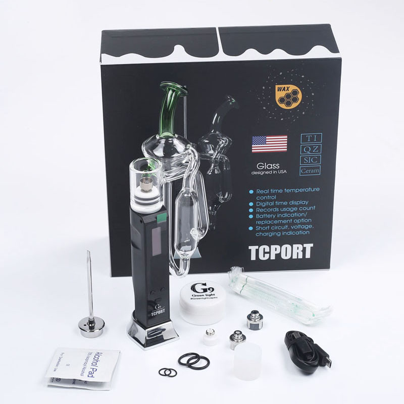 G9 Tcport portable H enail Vaporizer Dry Herb Wax Concentrate Pen Dab Rig Vapor with bubbler