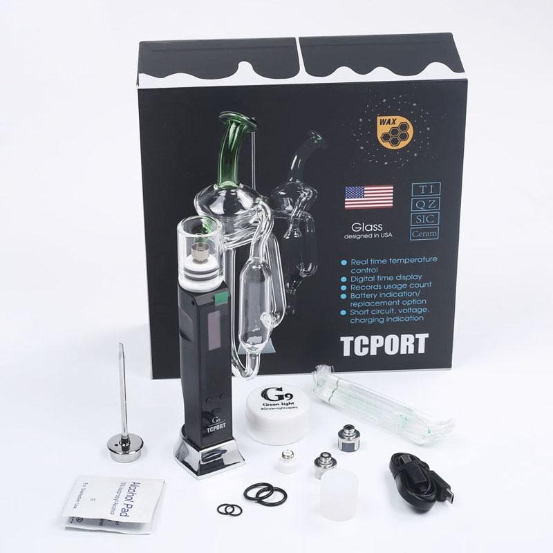 G9 Tcport portable H enail vaporisateur sec herbe cire concentré stylo Dab plate-forme vapeur avec barboteur fumer tuyau cire banger ecig 0C