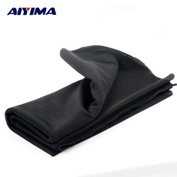 AIYIMA 1.8x0.5m Audio Speakers High Dense Thick Type Black Speakers Sound Net Cloth Mask Cloth Baffle Cloth Broadcasting
