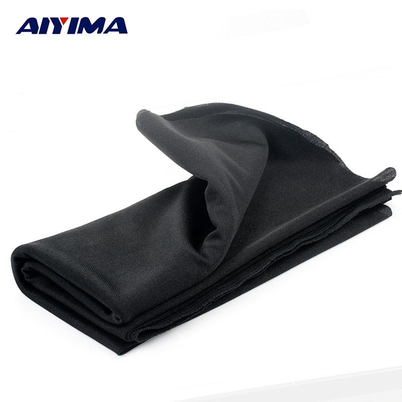 AIYIMA 1.8x0.5 m Audio Haut-parleurs Haute Dense Type Épais Noir Haut-parleurs Son Net Tissu Masque Tissu Chicane Tissu radiodiffusion