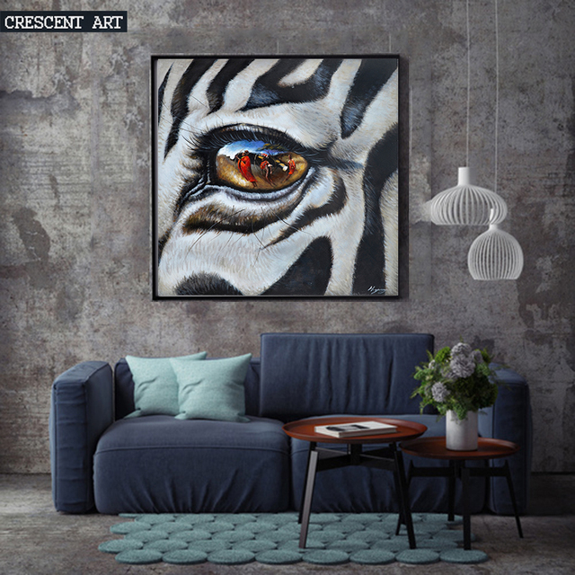 Owl Eye Animal Wall Art Spray Painting Canvas Oil Home Decor Wildlife