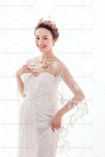 White Maternity Mama Gown Transperant Dresses Studio Photo Shoot Clothes Photography Props