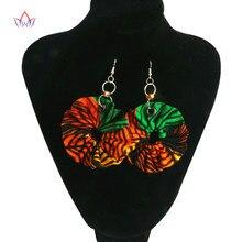 Female Colourful Drop Earrings African Print Jewelry Fringes Ethnic Dangle Earrings For Women Fashion Jewelry Brand BRW WYA151