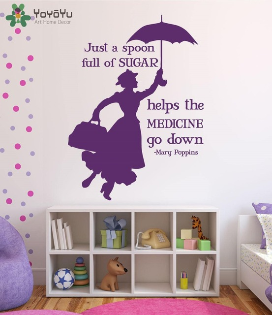 Mary Poppins Wandtattoo Quote Vinyl Wandaufkleber Fur Kinderzimmer