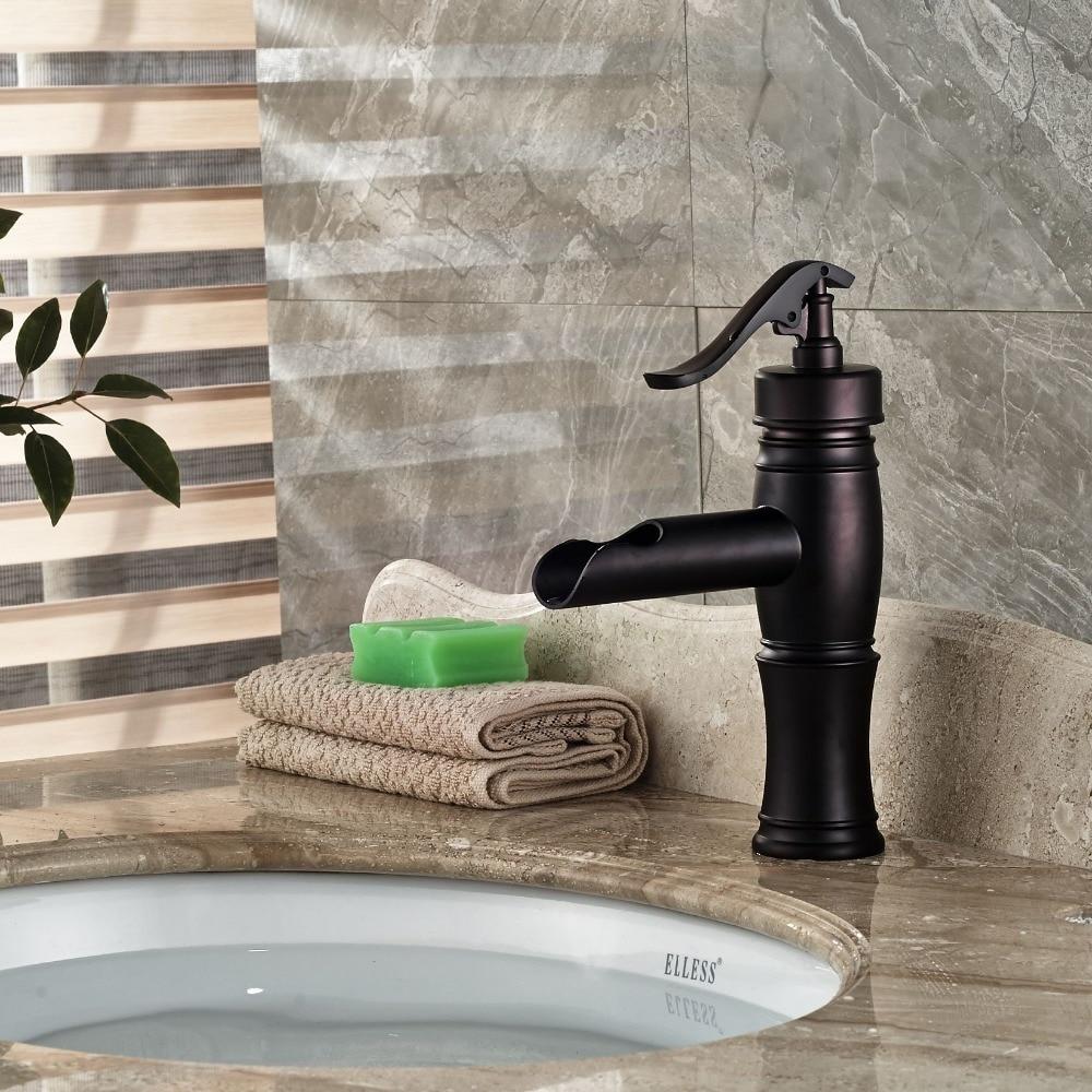 ФОТО Bathroom Basin Faucet Oil Rubbed Bronze Bathroom Basin Faucet Single Handle Mixer Tap
