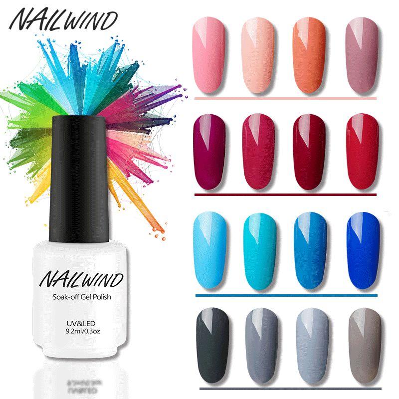 Nailwind несколько Цвет серии UV Гель-лак 9.2 мл Soak Off уф-led-гель польский Однотонная одежда Гели для ногтей польский uv гель лак
