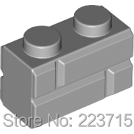 *Brick 1x2 with Embossed brick * DIY enlighten block brick part No. 98283, Compatible With Other Assembles Particles