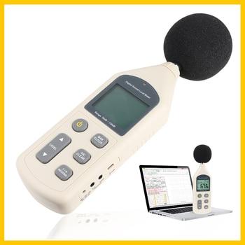 RZ Yeni Dijital Ses Seviyesi ölçer Metre Gürültü Test Cihazı GM1356 30-130dB LCD A/C Hızlı/yavaş DB Ekran USB + Yazılım