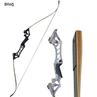 Hunting Recurve Takedown Bow 30 60lbs Outdoor Shooting Training Practice Longbow Right Hand Black Camouflage with Bow Stringer