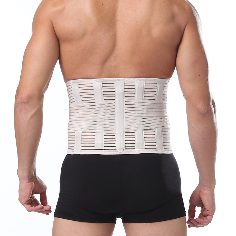 Lower Back Posure Corrector Men Women Breathable Waist Support Adult Orthopedic Back Waist support Belt Lumber Braces in Braces Supports from Beauty Health