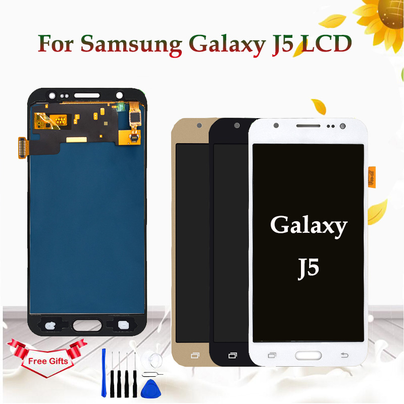 5.2 polegada LCD Para Samsung Galaxy J5 J500 J500F J500FN J500Y J500M Display LCD Montagem Digitador Da Tela de Toque Substituir