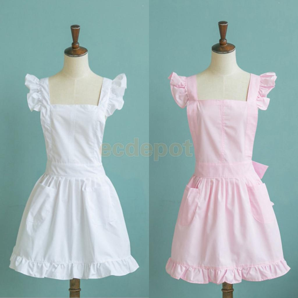 White aprons for sale - 2 Pocket Aprons