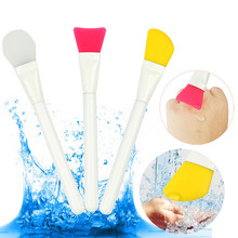 3 Pcs Facial Cosmetic Hot Flawless Unique Makeup Soft Silicone Mask Brushes Set High Quality Makeup Brushes for Mask maquiagem
